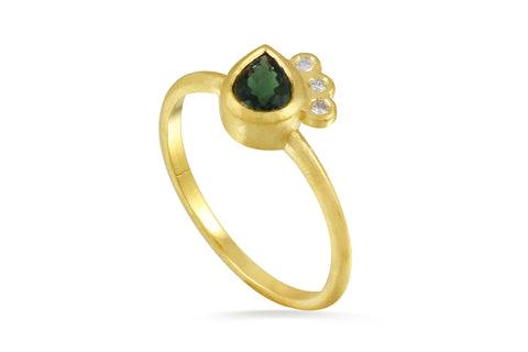 green tourmaline ring by Amanda K Lockrow