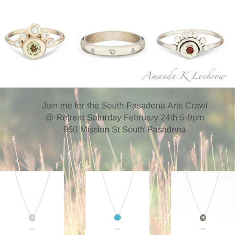 south pasadena arts crawl trunk show at retreat