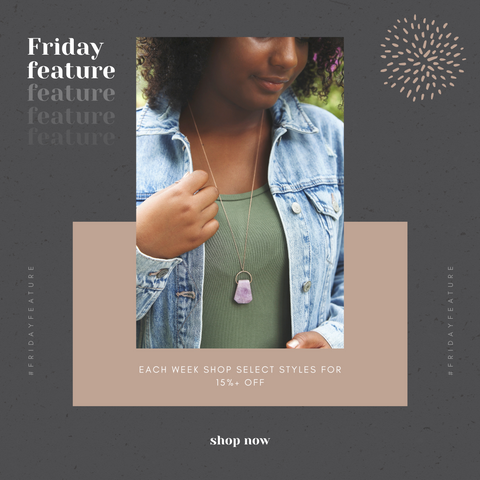 friday feature crystal necklaces