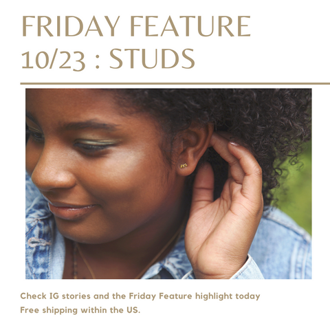 friday feature stud earrings