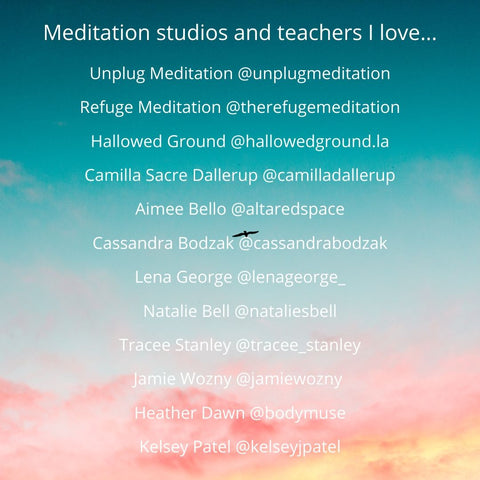 meditation studios and teachers I love