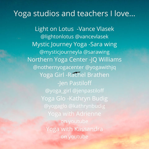 yoga studios and teachers I love
