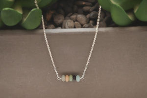 Elements- Amazonite sterling silver necklace - Amanda K Lockrow