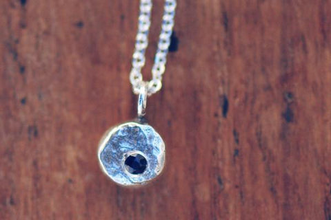 Elemental pebble sterling silver necklace