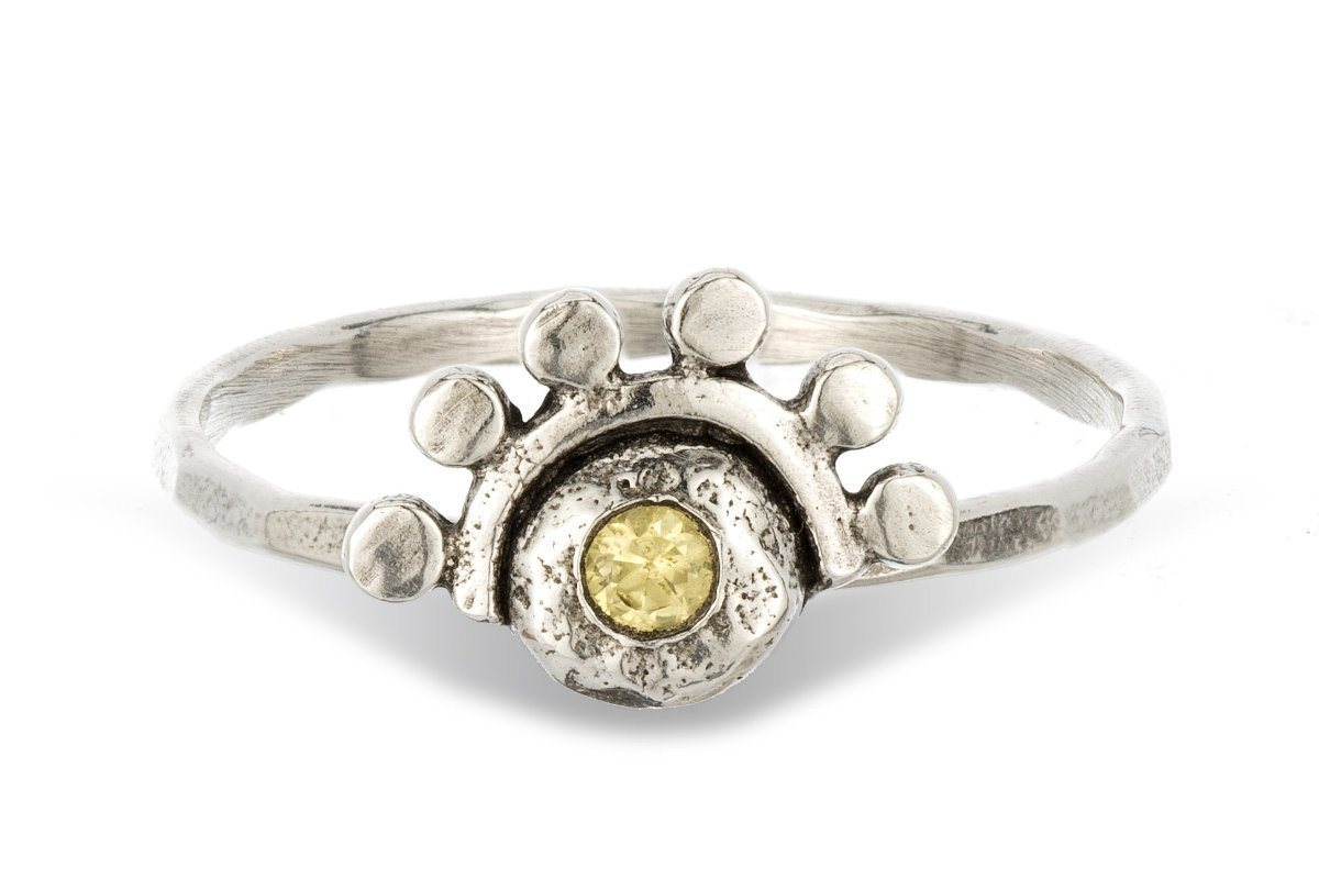 Citrine sterling silver oriana stacking ring