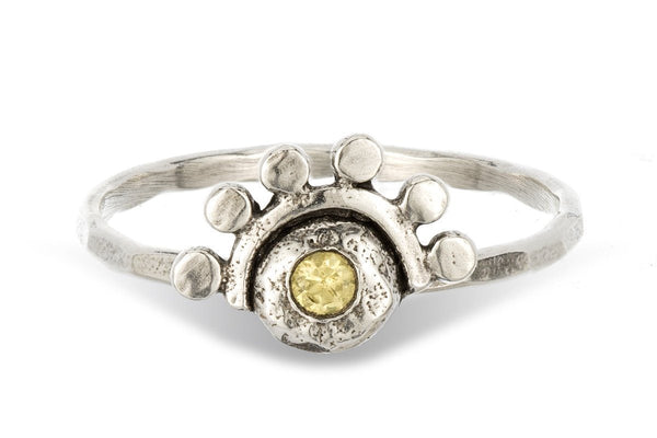 Citrine sterling silver oriana stacking ring - Amanda K Lockrow