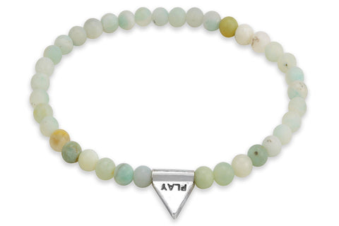 InCompass Play bracelet - amazonite and sterling silver