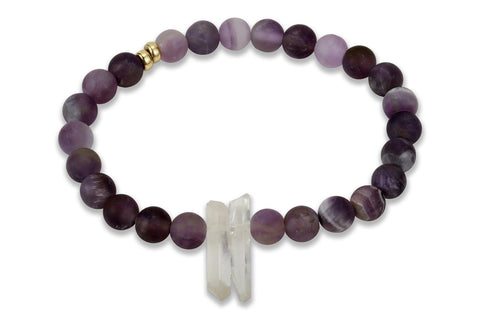 InGuage - Amethyst & Clear Quartz, 6mm