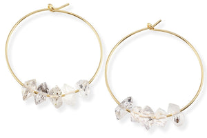 14K gold filled gemstone hoop earrings - Elements hoops