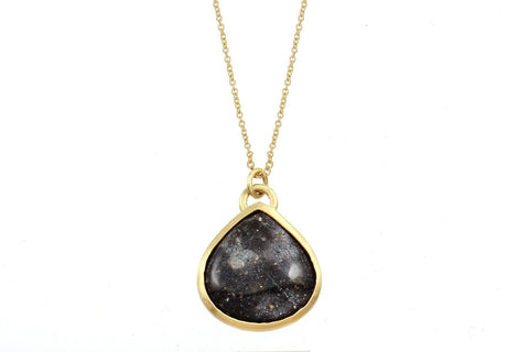 14K gold black opal alvina necklace