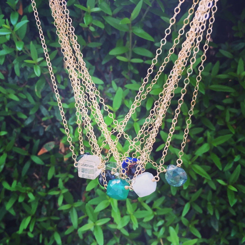 Labradorite little rock necklace necklace Amanda K Lockrow