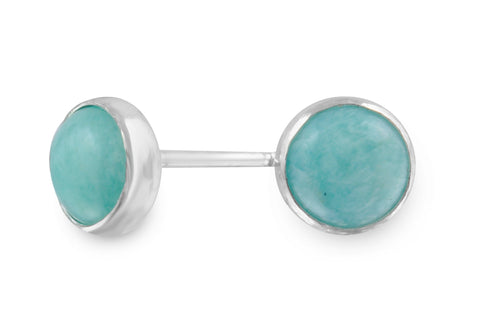 Amazonite sterling silver 6mm studs