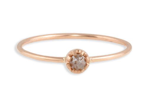 14K rose gold and rosecut brown diamond stacking ring ring Amanda K Lockrow