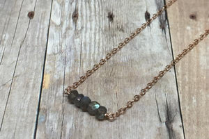 Elements- Labradorite rose gold filled necklace - Amanda K Lockrow