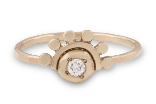 14k yellow gold and diamond oriana ring // golden dawn ring Amanda K Lockrow