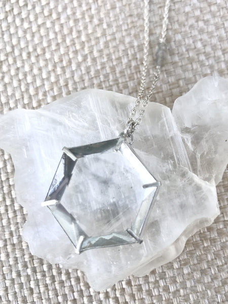 Harmonia Clear Quartz sterling silver necklace