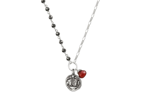 Vintage protective amulet sterling silver charm necklace - choose from options