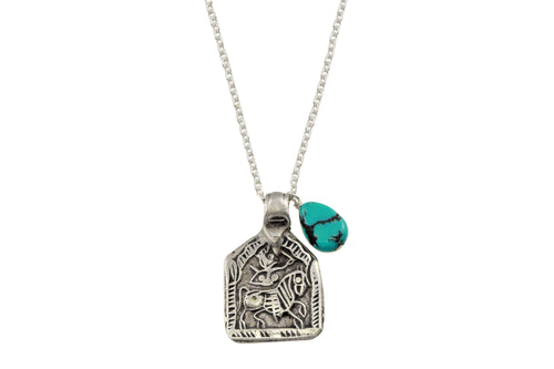 Kalki amulet sterling silver necklace necklace Amanda K Lockrow