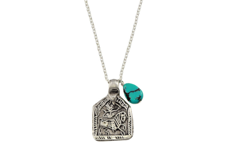 Kalki amulet sterling silver necklace