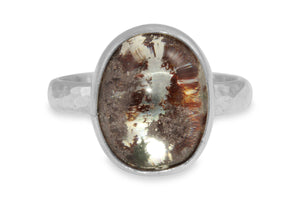 Lodalite sterling silver ring - size 8