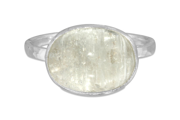 Aquamarine sterling silver ring - size 7