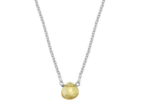 dainty citrine little rock necklace