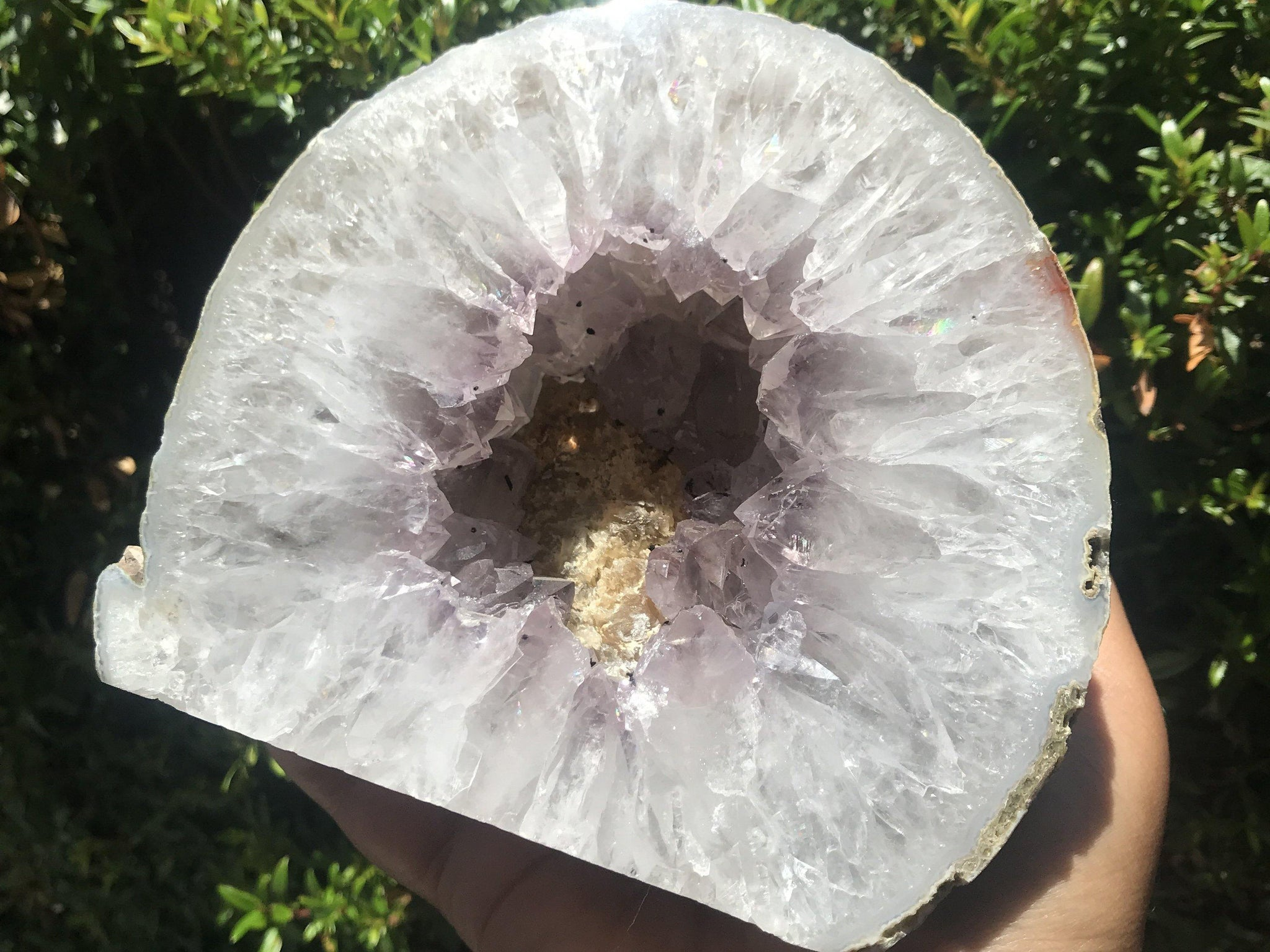 Amethyst agate geode - home decor