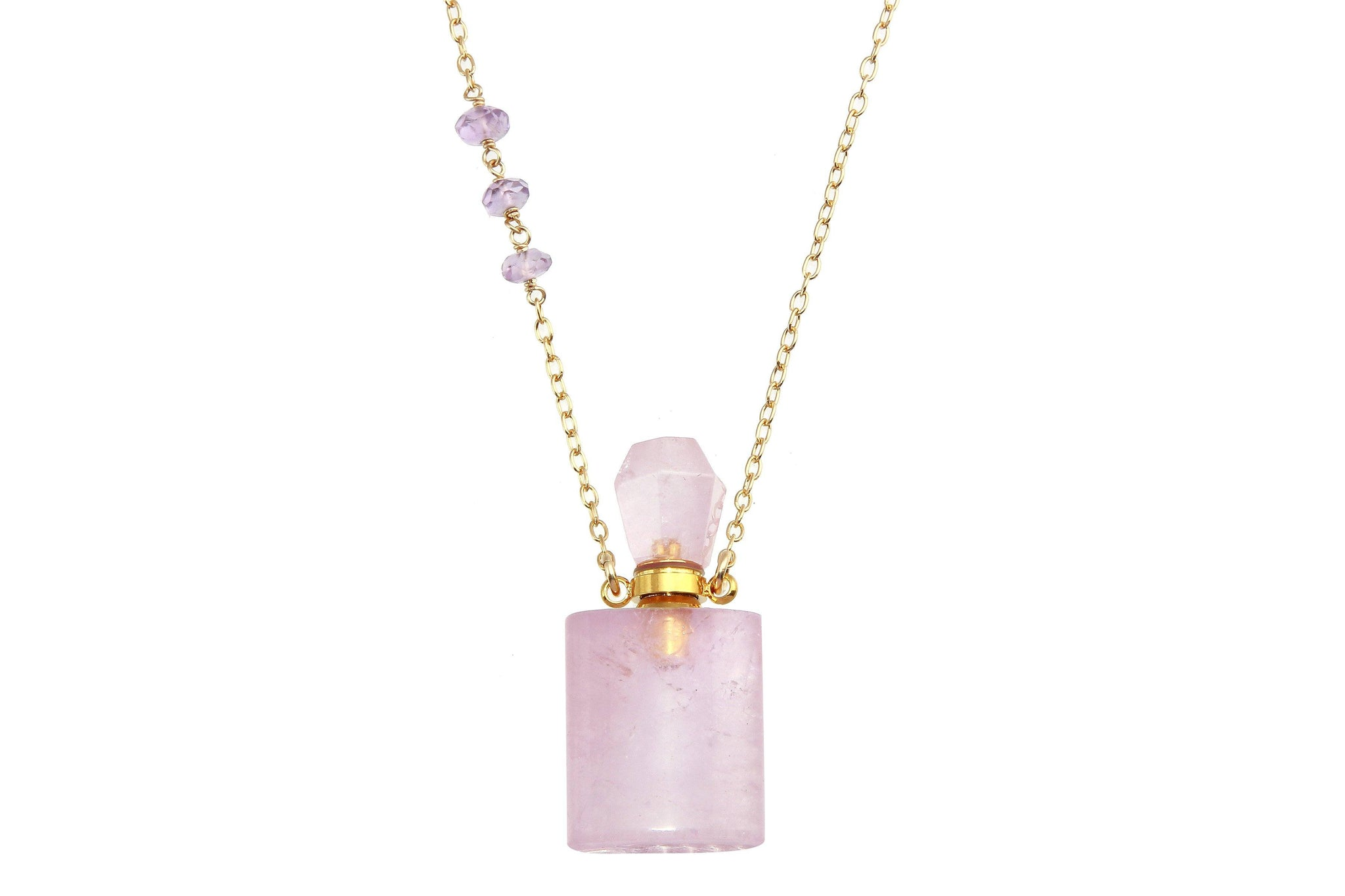 Amethyst crystal potion necklace - for potions, perfume or oils