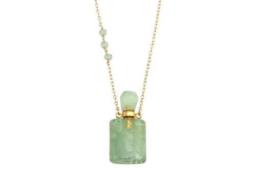 Fluorite crystal potion necklace - for potions, perfume or oils necklace Amanda K Lockrow