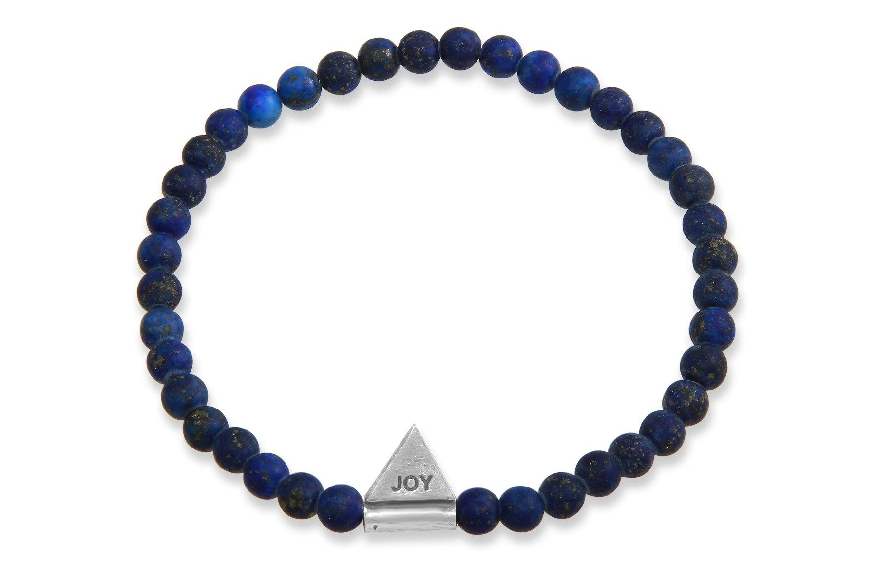 InCompass JOY bracelet - lapis lazuli and sterling silver - Amanda K Lockrow