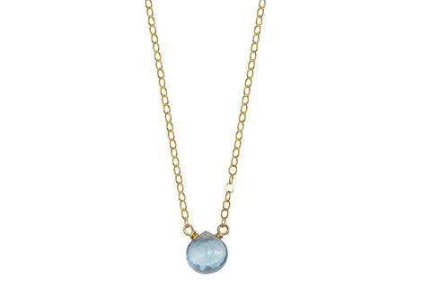 Blue Topaz little rock necklace - Amanda K Lockrow