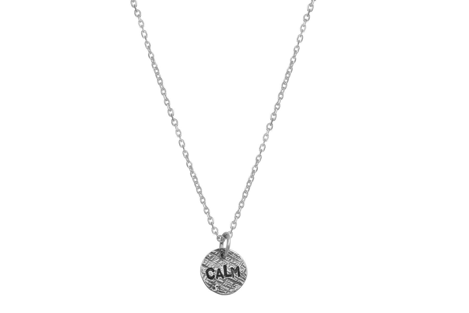 Say Something silver charm necklace-choose your word