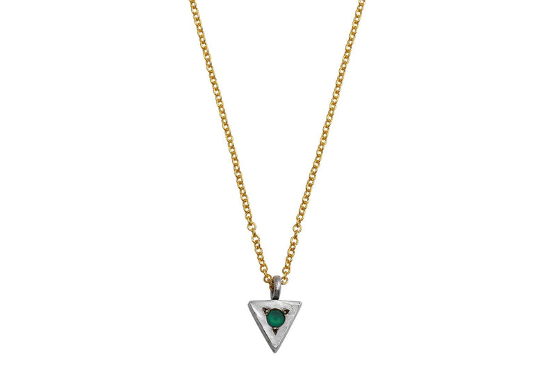 Strength triangle necklace