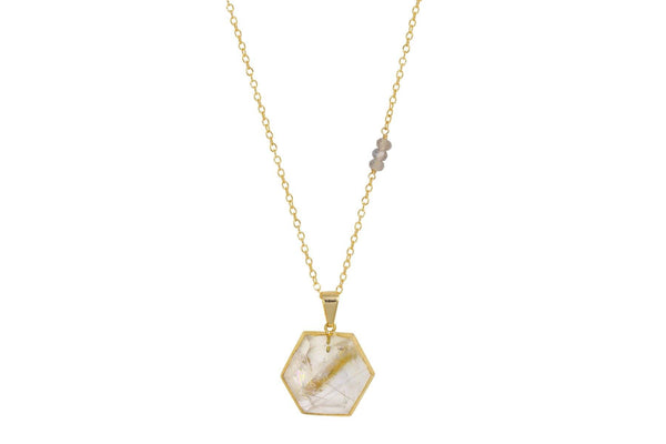 Harmonia Rutilated Quartz Necklace - a collaboration with Casey Van Zandt