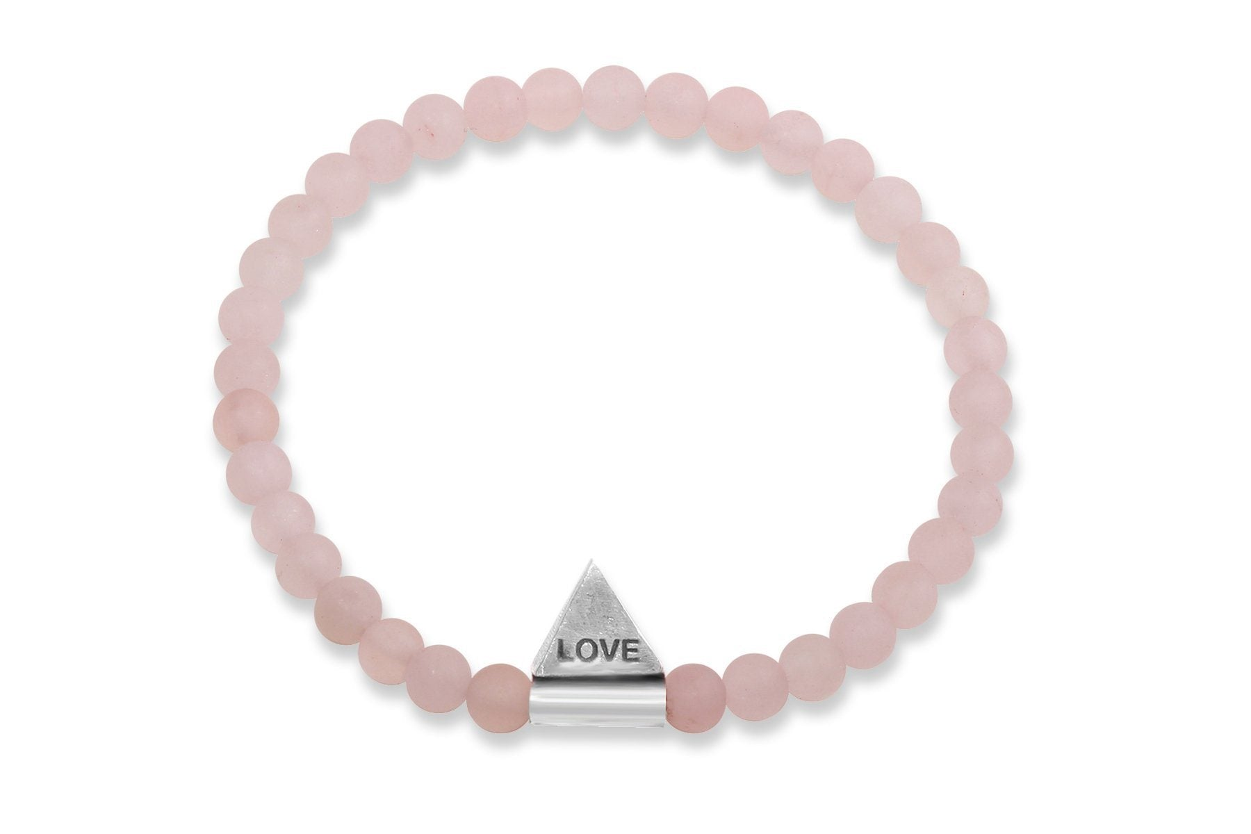 InCompass LOVE bracelet - rose quartz and sterling silver