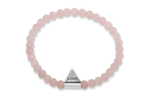 InCompass LOVE bracelet - rose quartz and sterling silver - Amanda K Lockrow