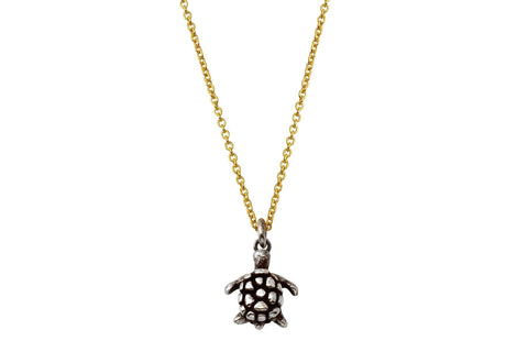 Naia sterling silver sea turtle necklace