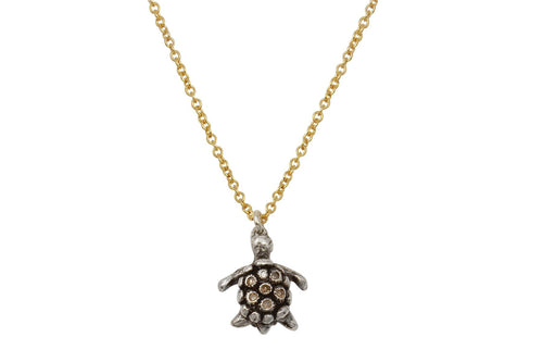 Naia diamond sea turtle necklace - Amanda K Lockrow