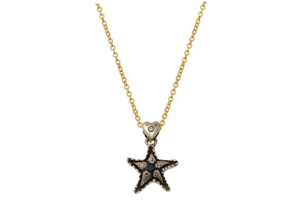Lana necklace - sterling silver and Blue Sapphire starfish necklace