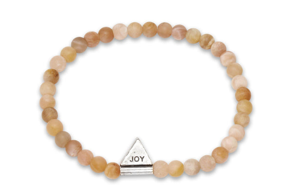 InCompass JOY bracelet - sunstone and sterling silver - Amanda K Lockrow