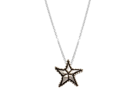 Lana necklace - sterling silver starfish necklace - Amanda K Lockrow