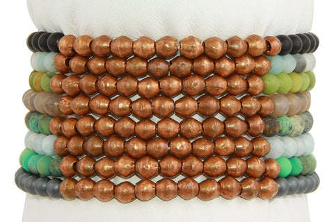 Power of 11 Copper and crystal stretchy bracelet