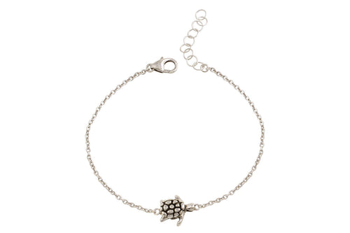 Naia sterling silver sea turtle bracelet - Amanda K Lockrow