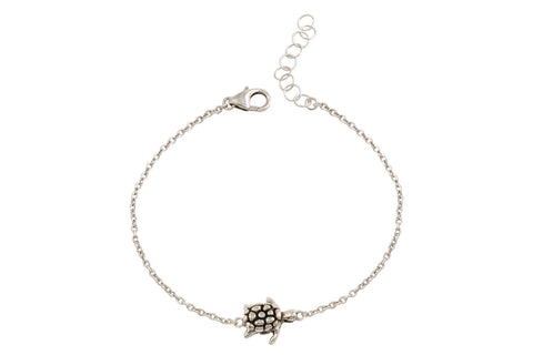 Naia sterling silver sea turtle bracelet