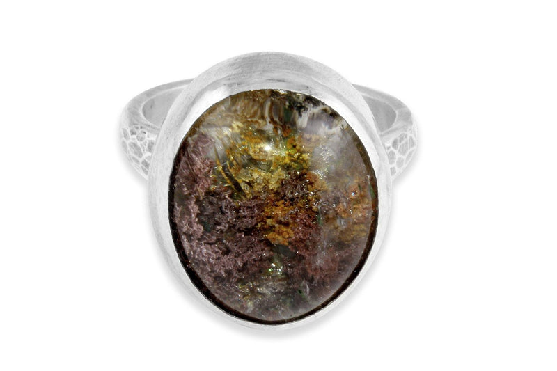 Garden Quartz sterling silver ring - Amanda K Lockrow