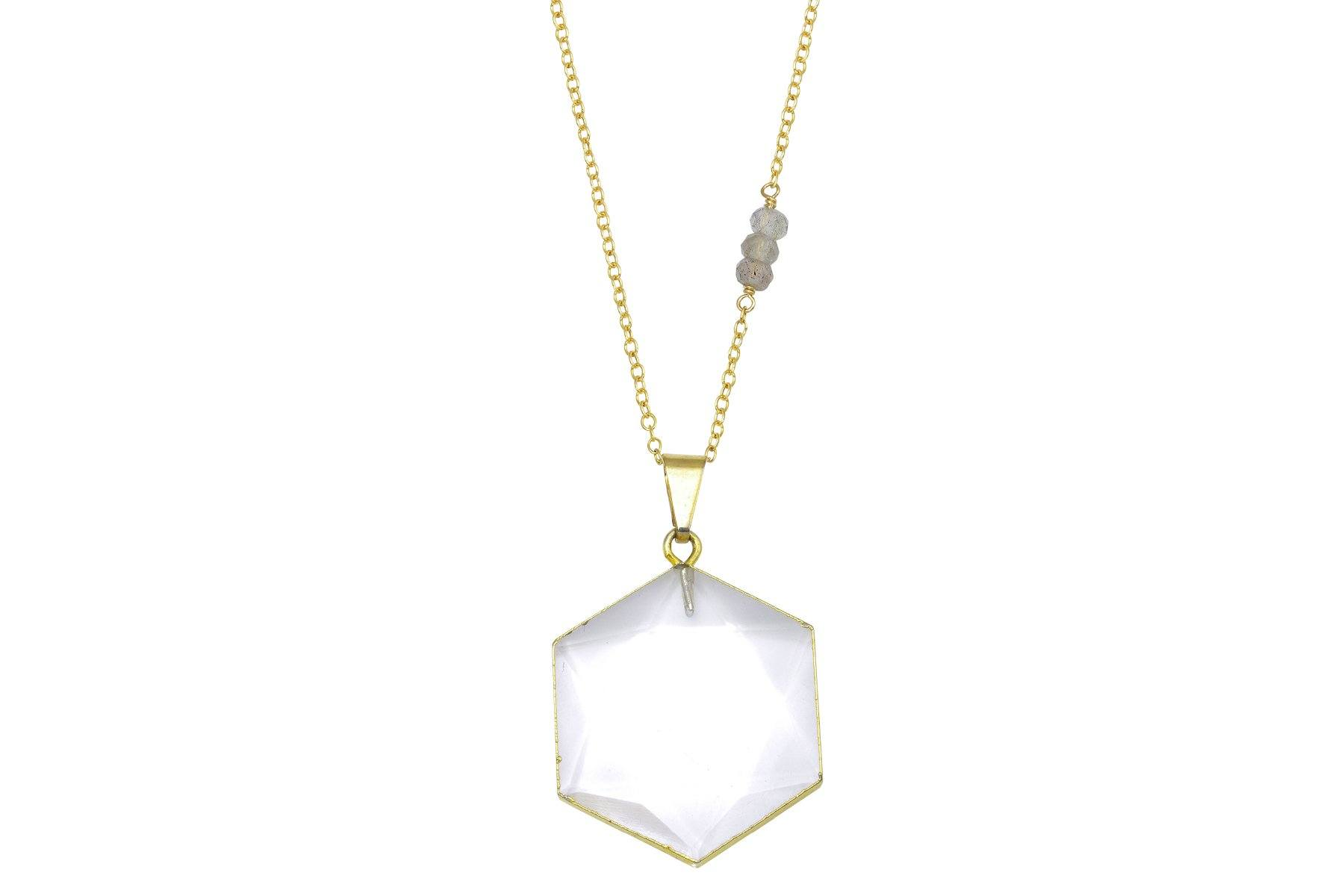 Harmonia Clear Quartz Necklace - a collaboration with Casey Van Zandt - Amanda K Lockrow