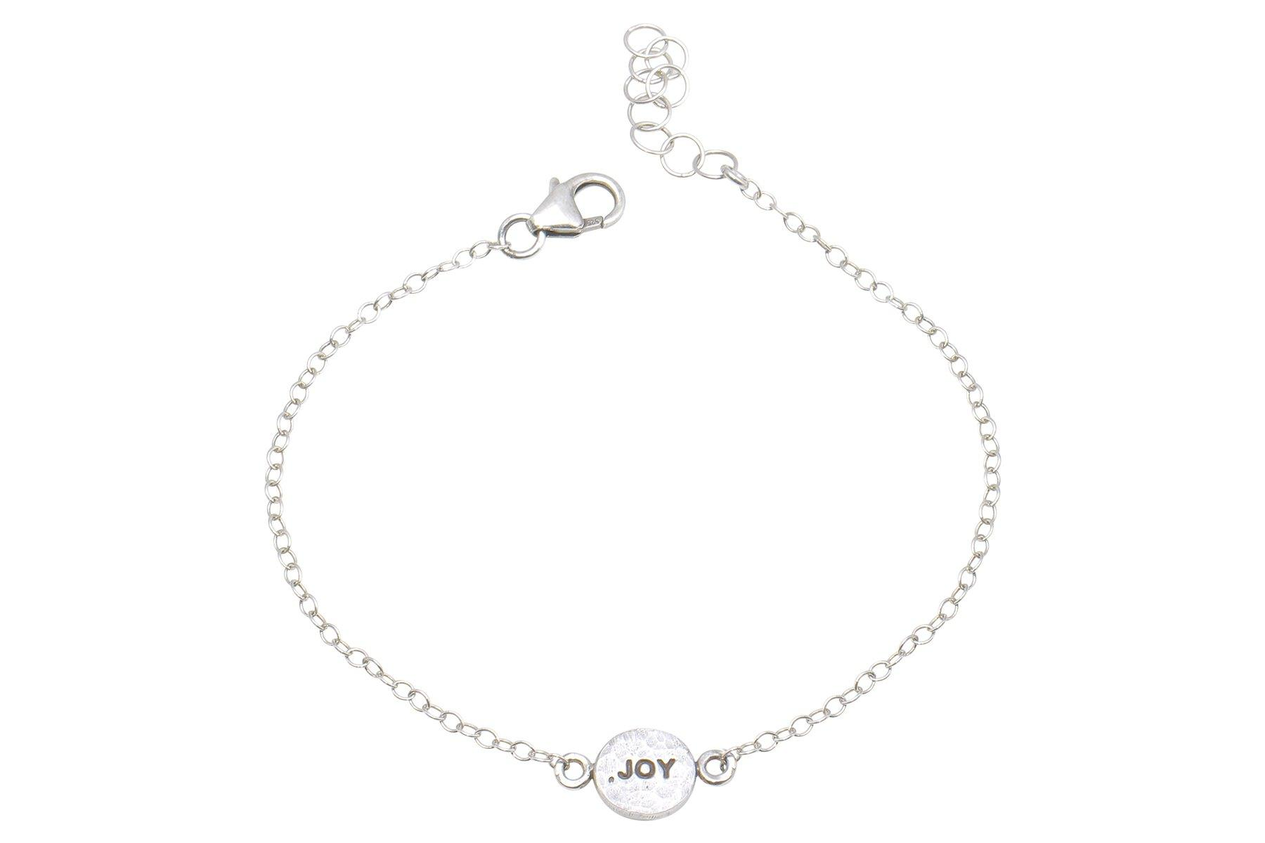 Say Something Joy sterling silver charm bracelet - Amanda K Lockrow