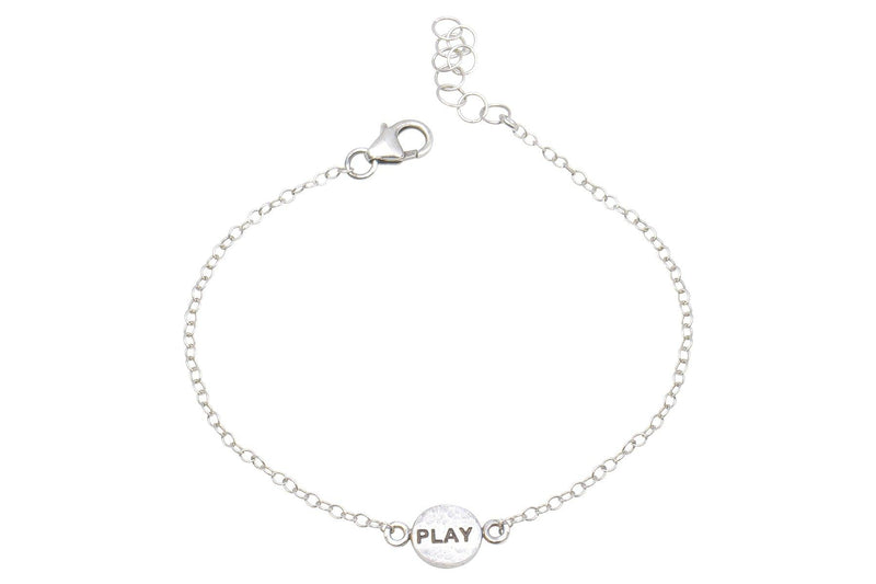 Say Something Play sterling silver charm bracelet bracelet Amanda K Lockrow