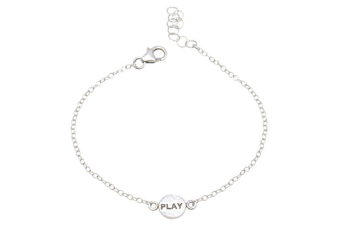 Say Something Play sterling silver charm bracelet - Amanda K Lockrow