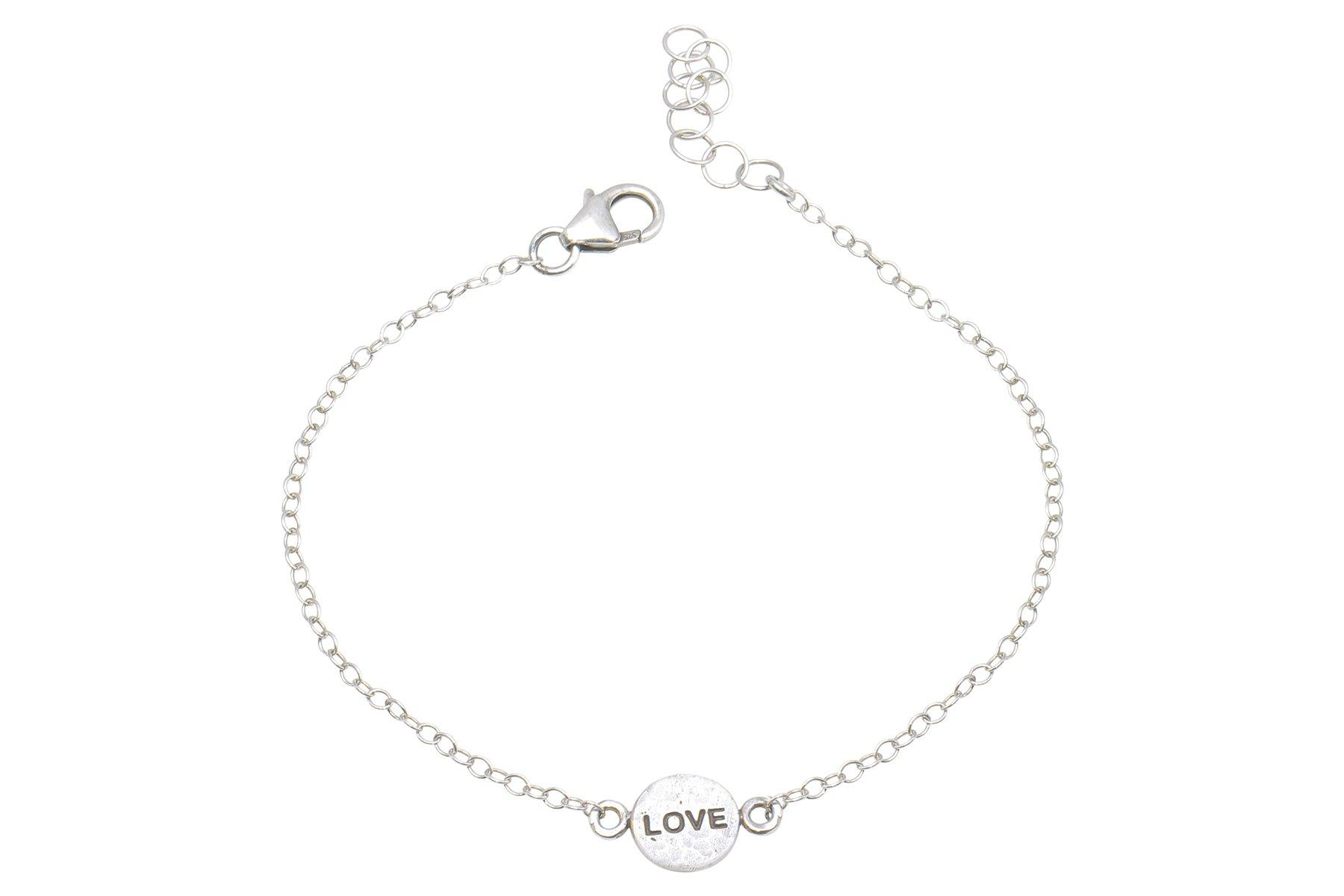 Say Something Love sterling silver charm bracelet - Amanda K Lockrow